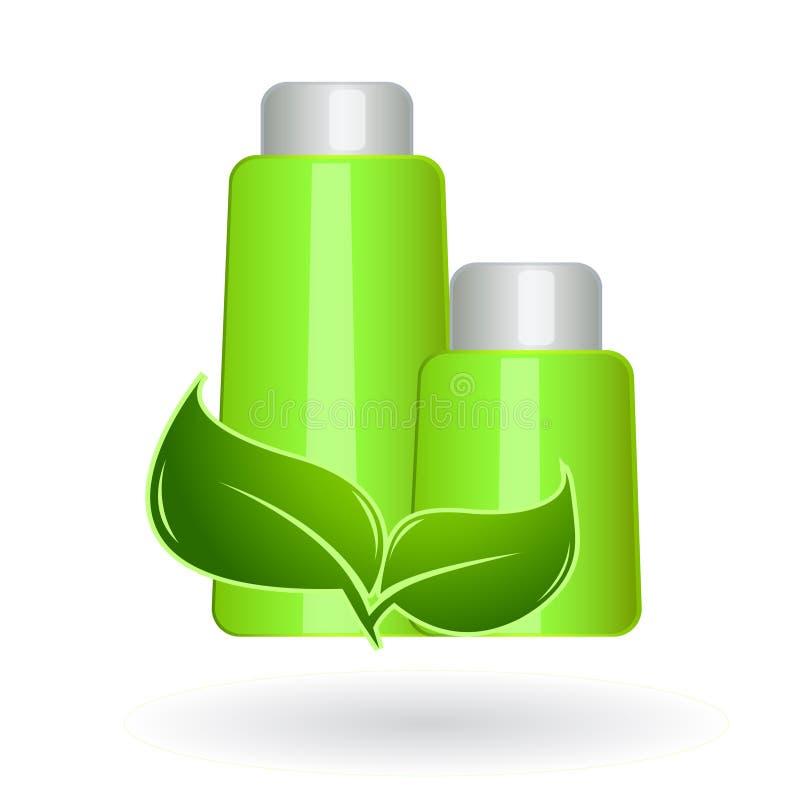 Produtos de beleza naturais de Eco ilustração stock
