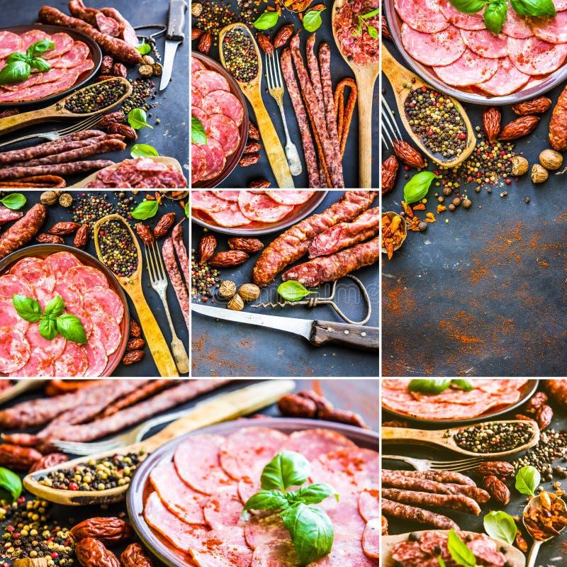 Produtos de carne fotos de stock