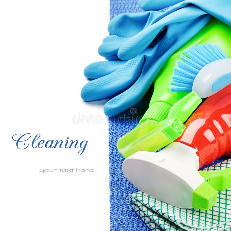Produtos de limpeza coloridos imagem de stock royalty free