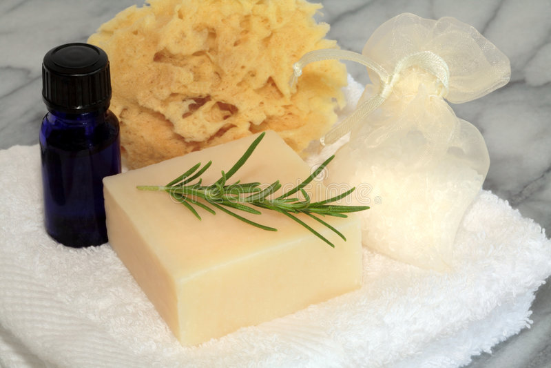 Produtos de limpeza de Aromatherapy imagem de stock