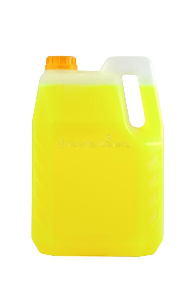 Produtos de limpeza Garrafa plástica detergente isolada fotos de stock