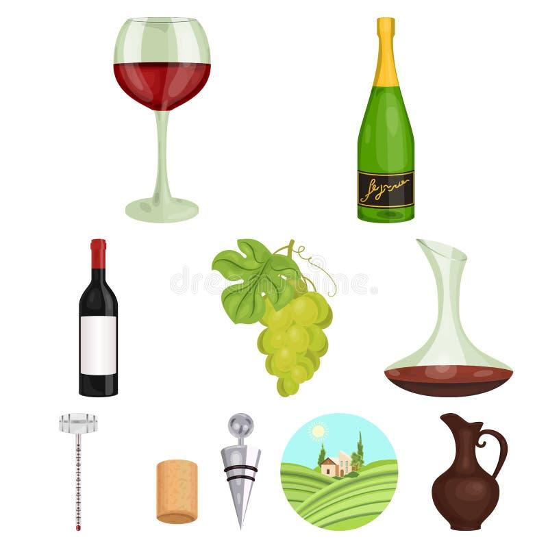 Produtos de vinho ilustração royalty free