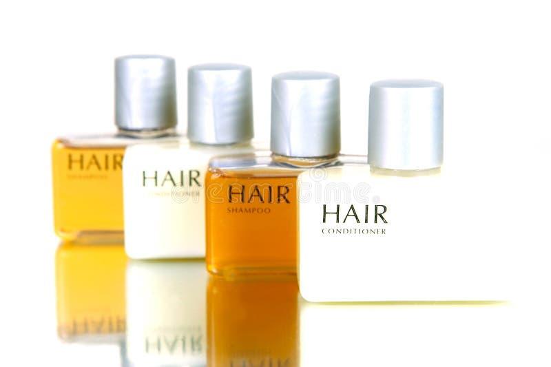 Produtos do cabelo e do corpo imagem de stock