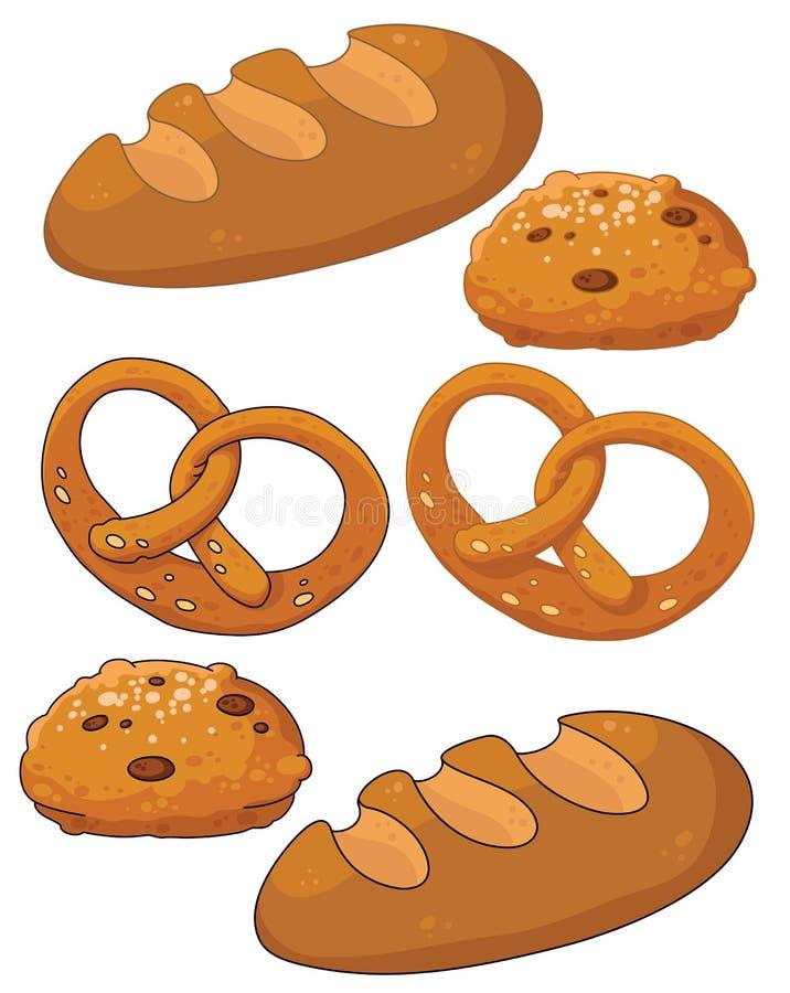 Produtos do pão ilustração do vetor