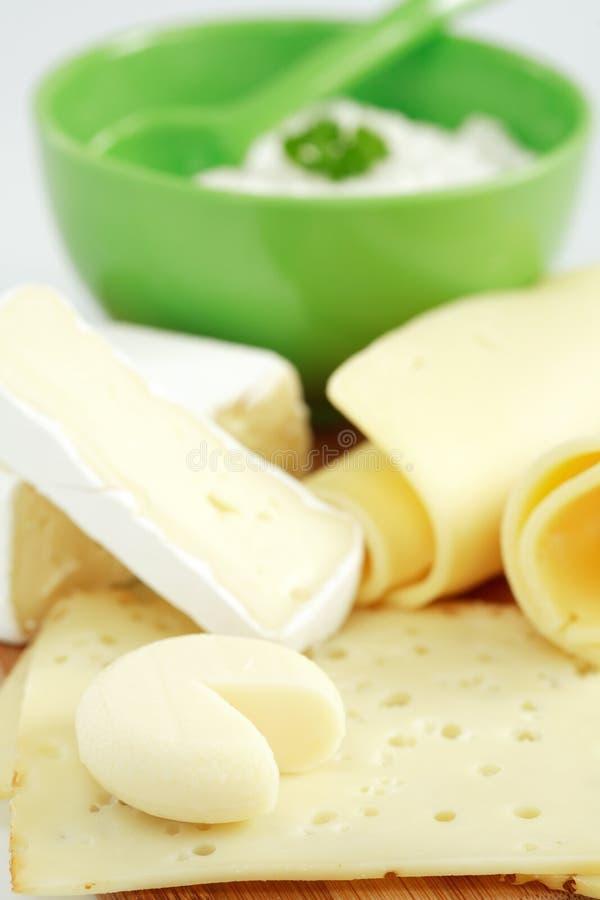 Produtos do queijo fotos de stock royalty free