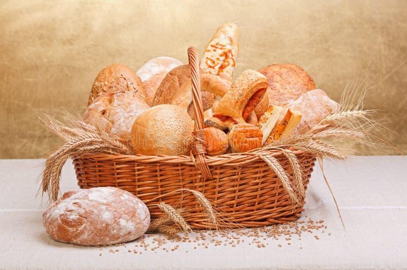 Produtos frescos da padaria imagem de stock