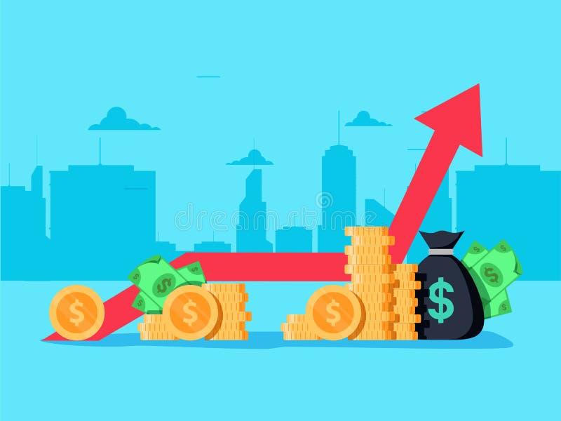 Produtos internos brutos Conceito do crescimento econômico ilustração royalty free
