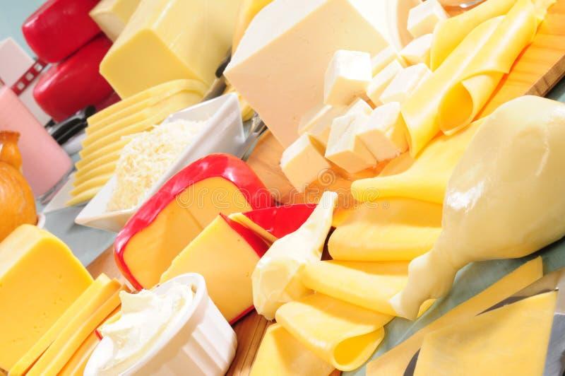 Produtos lácteos. imagem de stock