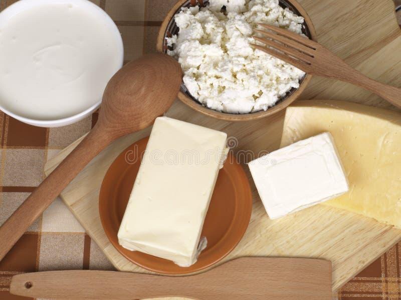 Produtos lácteos fotografia de stock