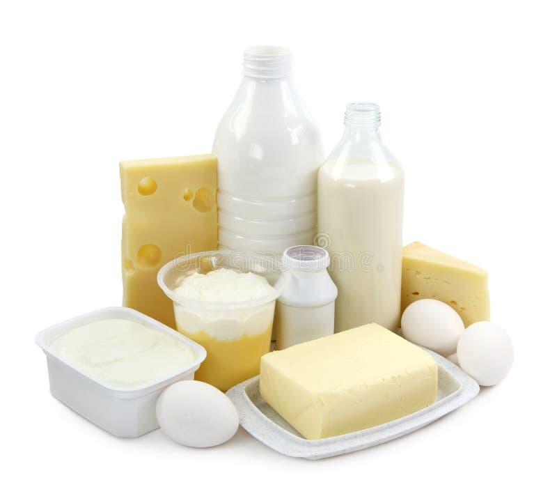 Produtos lácteos e ovos fotografia de stock royalty free