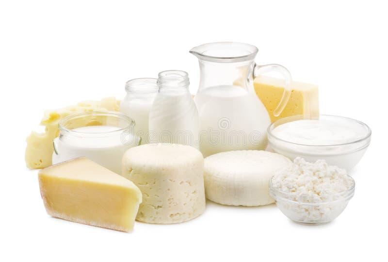 Produtos lácteos frescos fotos de stock