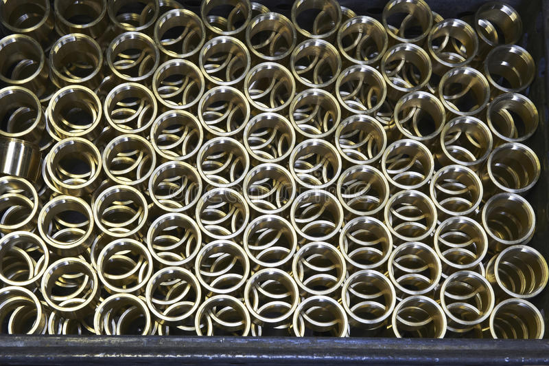 Produtos metálicos fotografia de stock