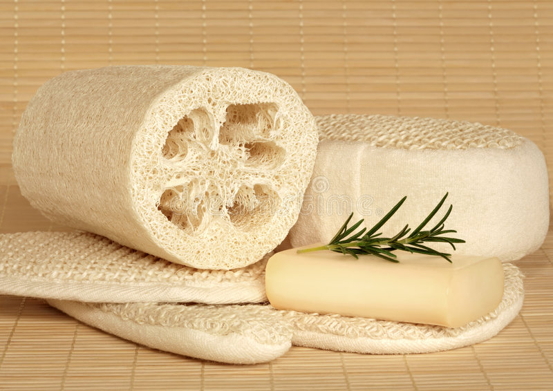 Produtos naturais de Skincare foto de stock