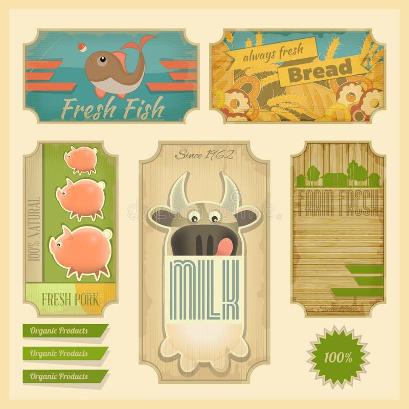 Produtos orgânicos ilustração royalty free