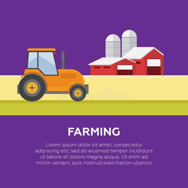 Produtos orgânicos Agricultura e cultivo agribusiness L rural imagem de stock royalty free