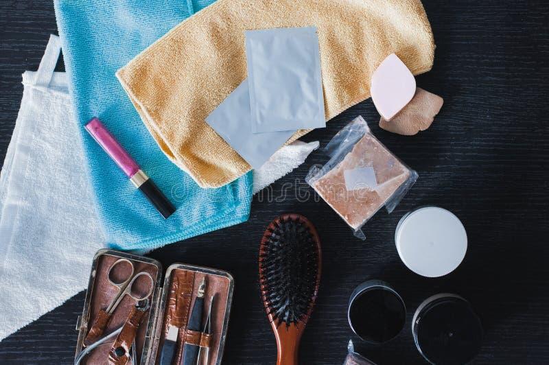 Produtos para o cuidado dos pregos e do cabelo fotos de stock royalty free