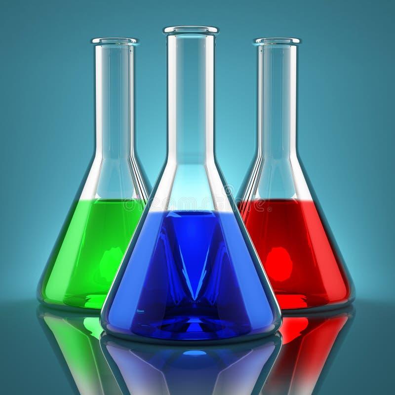 Produtos químicos ilustração stock