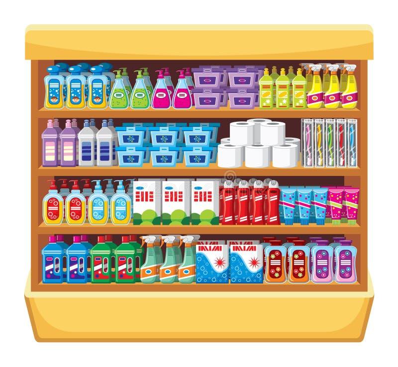 Produtos químicos de agregado familiar ilustração do vetor