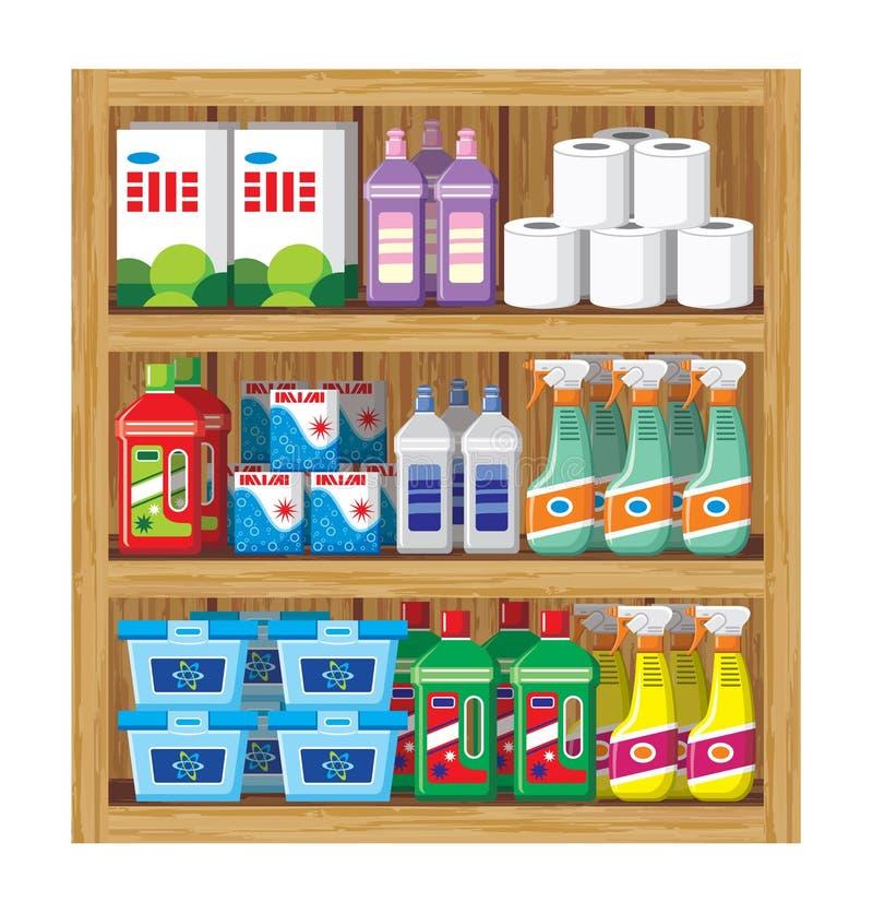 Produtos químicos de agregado familiar ilustração royalty free