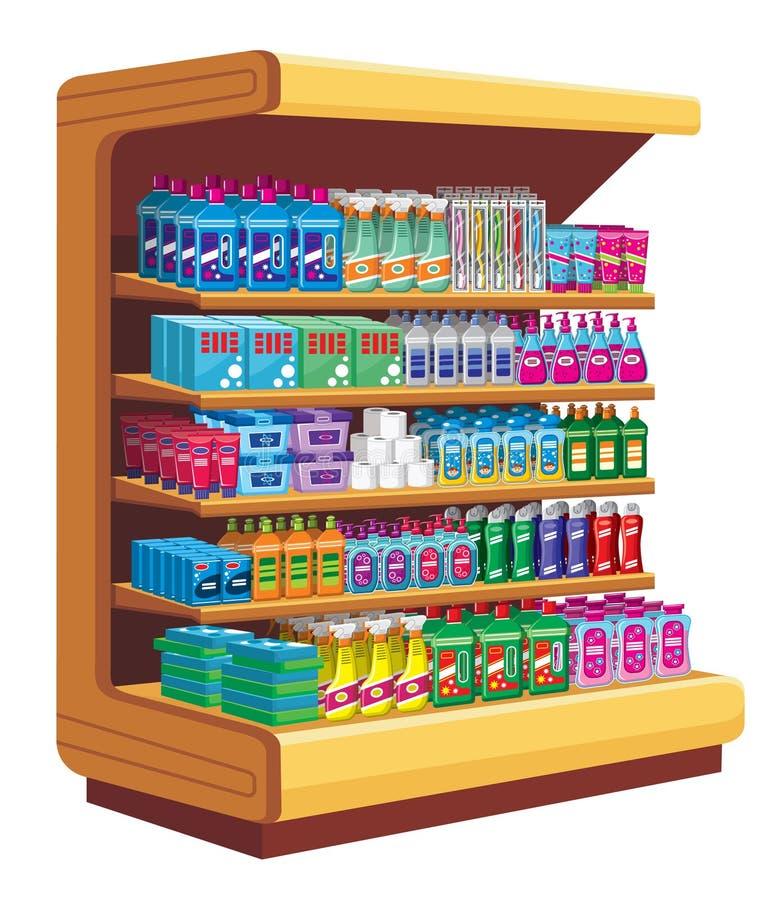 Produtos químicos de agregado familiar ilustração stock
