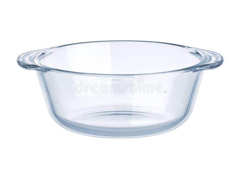 Produtos vidreiros. Bacia de salada vazia fotografia de stock royalty free