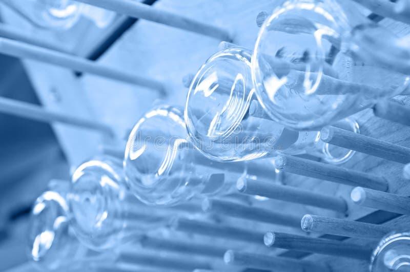 Produtos vidreiros da química imagens de stock