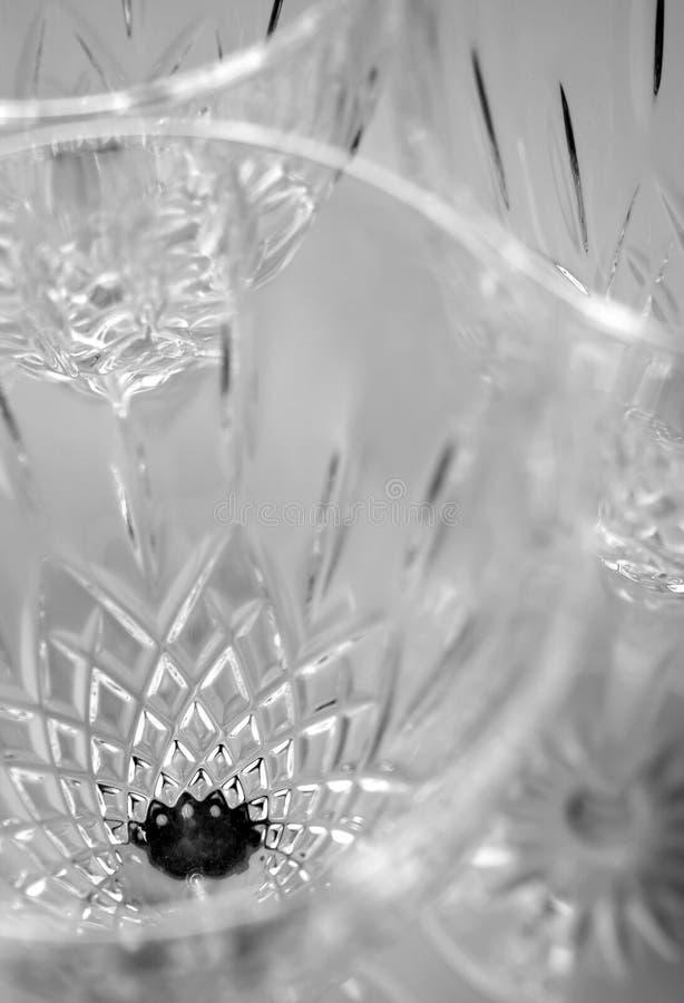 Produtos vidreiros de cristal fotos de stock royalty free