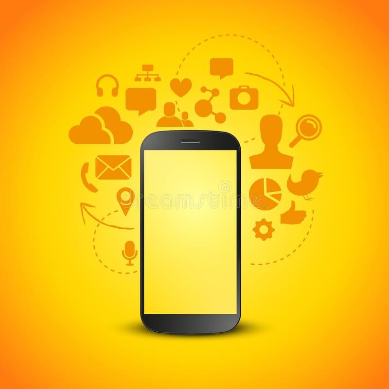 Produttività mobile illustrazione vettoriale