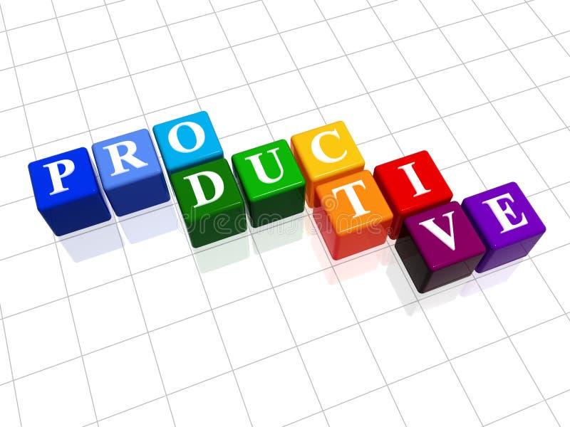 Produttivo a colori illustrazione vettoriale