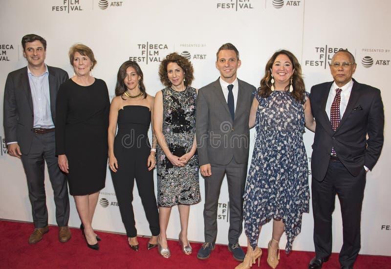 Produttori cinematografici e stelle di New York Times al festival cinematografico 2018 di Tribeca fotografie stock libere da diritti