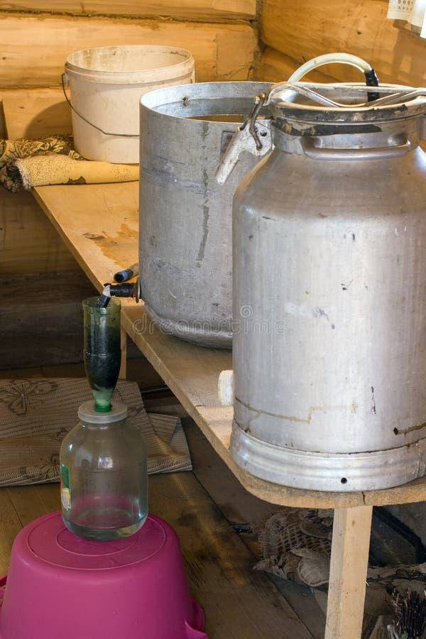 Produzione dell'artigianato di alcool fotografie stock libere da diritti