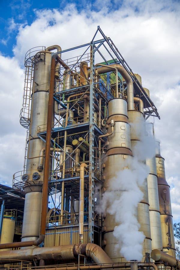Produzione di industria della canna da zucchero fotografie stock libere da diritti