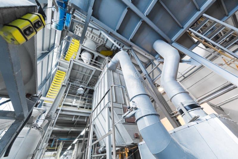 Produzione di industria della vetroresina della linea di vetro alla fabbrica immagini stock