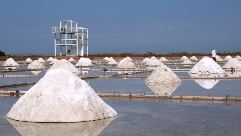 Produzione di sale del mare fotografia stock