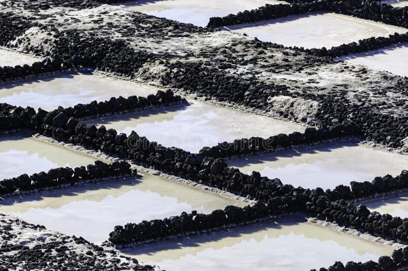 Produzione di sale a Fuencaliente de la Palma fotografia stock