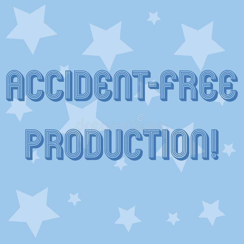 Produzione libera della mano di scrittura di incidente concettuale di rappresentazione Foto di affari che non montra produttività illustrazione vettoriale