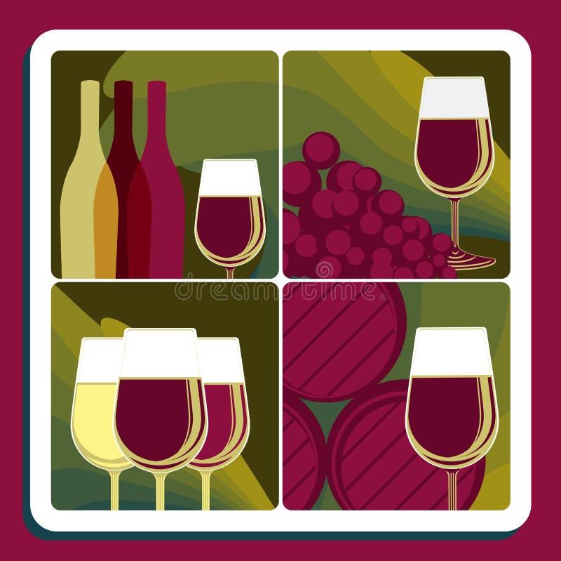 Produzione vinicola illustrazione di stock
