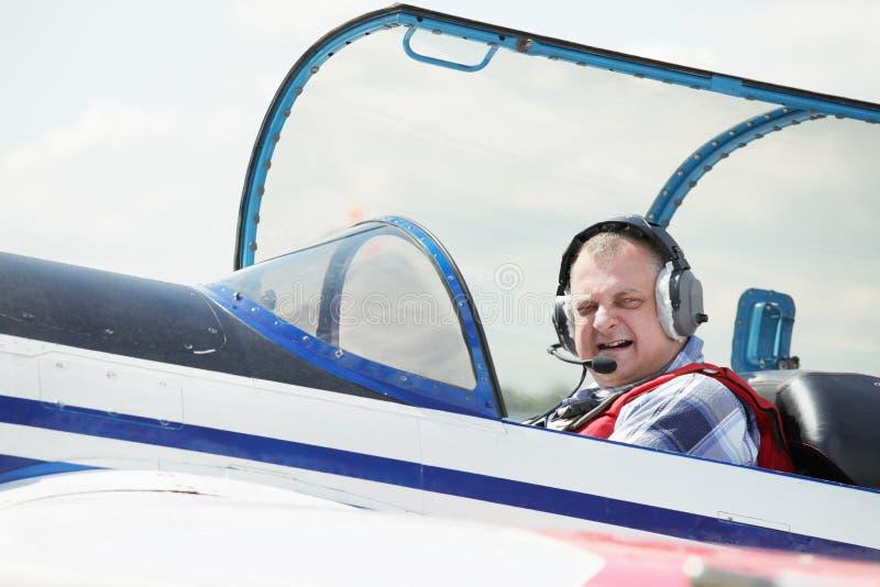 Proef in cockpit royalty-vrije stock fotografie