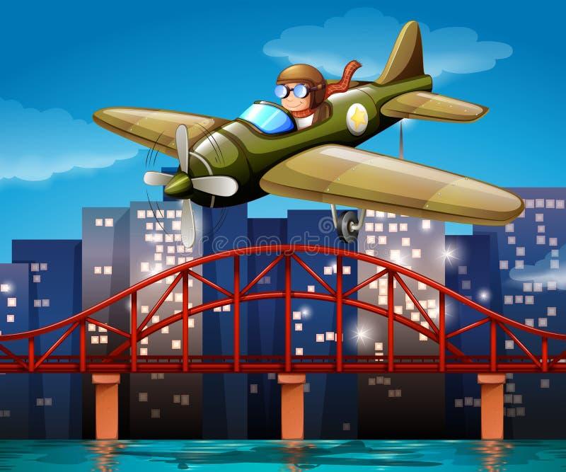 Proef en vliegtuig stock illustratie