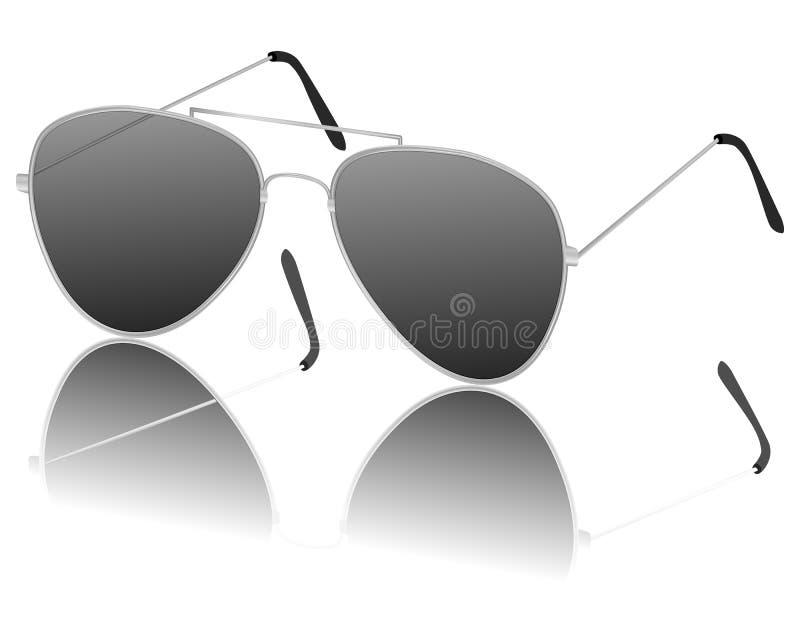 Proef zonnebril vector illustratie