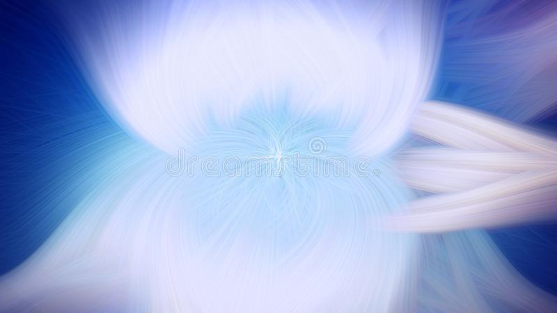 Proemin?ncia azul do fundo do fractal da chama Luz do contexto ilustração royalty free