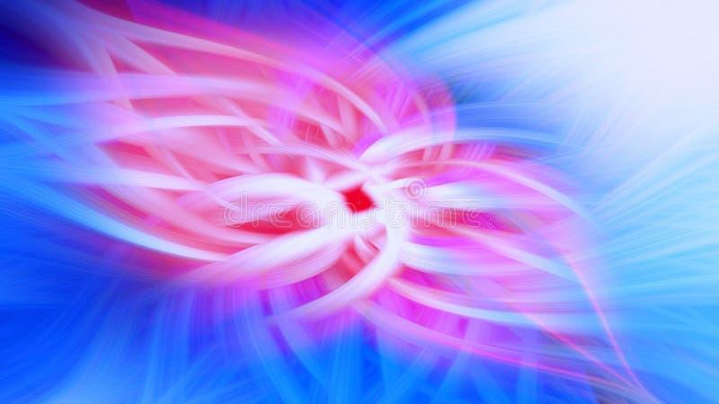 Proemin?ncia azul do fundo do fractal da chama Teste padr?o do papel de parede ilustração do vetor