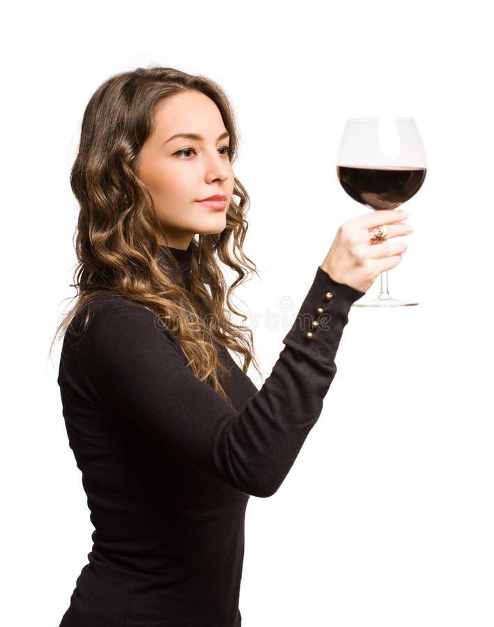 Proevende grote wijn. royalty-vrije stock fotografie