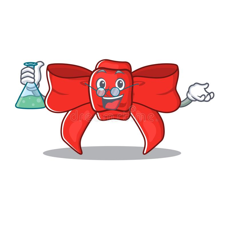 Prof. red ribbon bow isolou o personagem ilustração royalty free