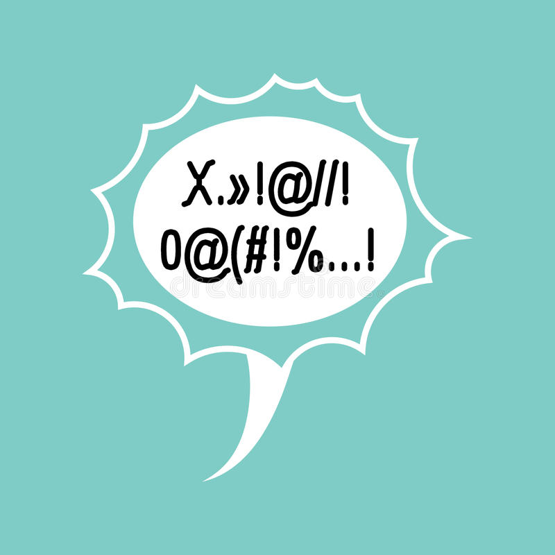 Profanity Comic speech Bubble . Place for text swearing.  royalty free illustration