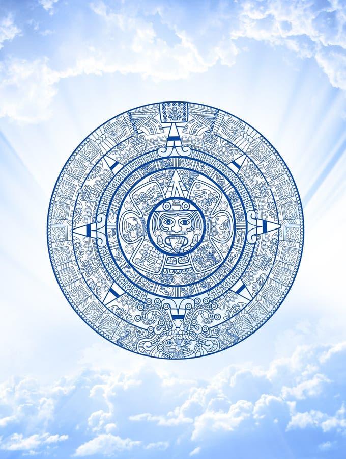 Profecía del maya ilustración del vector