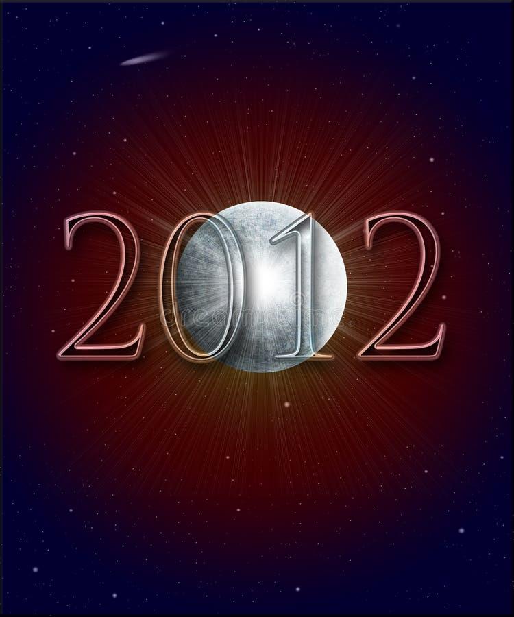 Profecía maya 2012 ilustración del vector