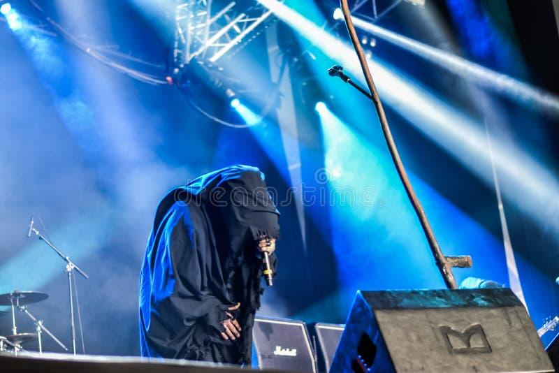 Profecías de los Undead en Hellfest 2016 foto de archivo libre de regalías