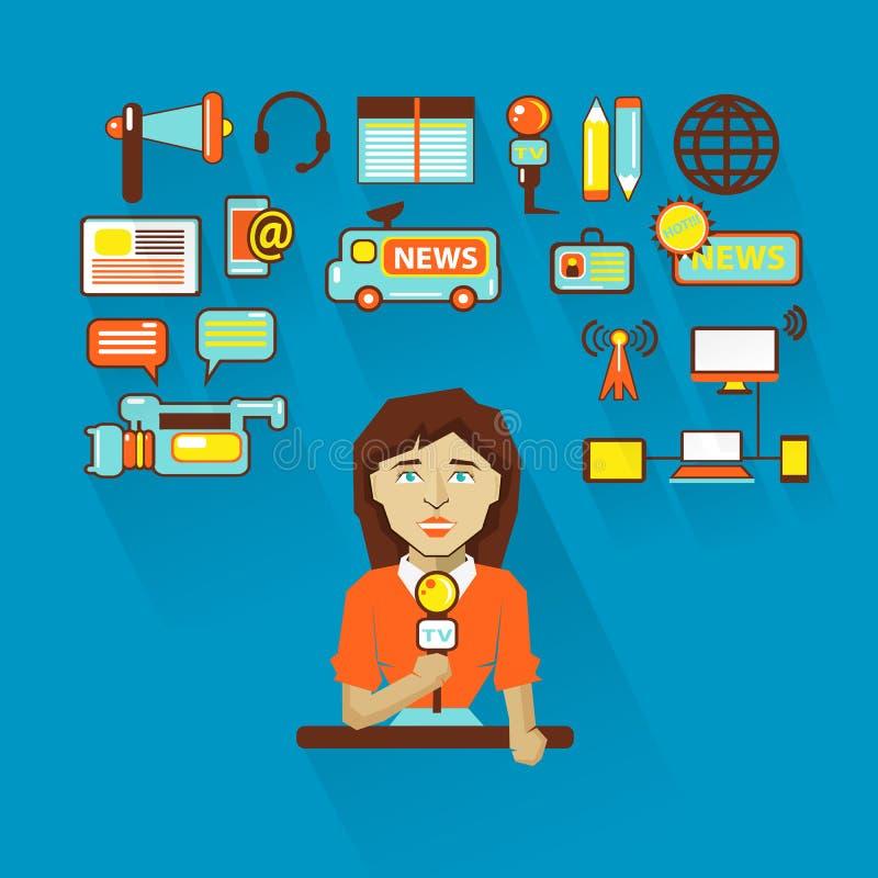 Profesión de la gente Infographic plano Mujer libre illustration