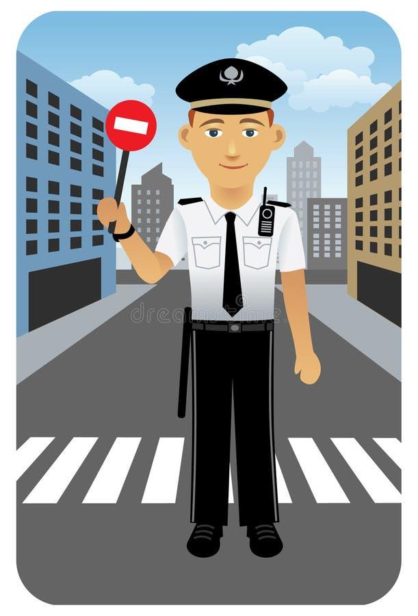 Profesión fijada: Oficial de policía stock de ilustración